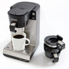 BUNN My Café MCU Review and a picture of the coffee maker.