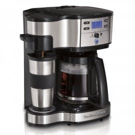 Hamilton Beach 49980Z 2-Way Brewer Review and a picture of the coffee maker.